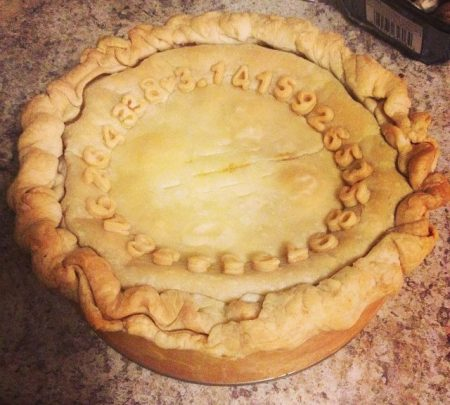 a pie with pi on the crust