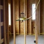House framing with wiring